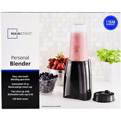 Mainstays 220W Stainless Steel Personal Blender Includes 15oz Detachable Travel Cup and AntiSkid Rubber Feet Black *** Continue to the product at the image link.
