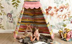 My Little Summer Diy Tipi, Sweet Home, Blog Deco, Weekend Projects, Blog Design, Reading Nook, Kids Bedroom, Playroom, Nursery