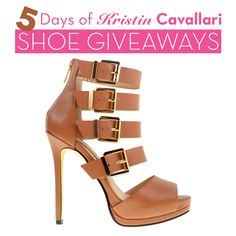 It's your last day to win a pair of @Kristin Cavallari shoes! Like our final Facebook giveaway post: http://on.fb.me/1z2T3jX to win these Lark platform sandals! Repin this pin for an extra entry!
