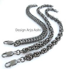 Heavy chainmaille bracelets for him. More creations on page: http://www.facebook.com/ArjasUni