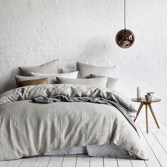via @adairs on Instagram Small Room Bedroom, Home Bedroom, Bedroom Decor, Scandinavian Style Bedroom, Scandinavian Interior, Decor Interior Design, Interior Styling, Linen Bed Sheets, Home Republic