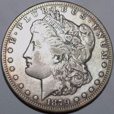 1879-CC $1 Morgan Silver Dollar-XF, details-Carson City-Free USA Shipping