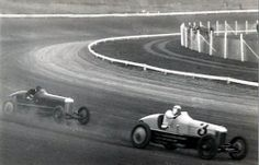 1928 Ascot  George Souders and Fred Frame at speed.