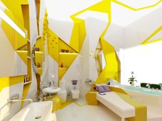 Best Yellow Bathroom Gallery