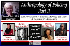 FREE WEBINAR - Anthropology of Policing - Part II    Click to Register