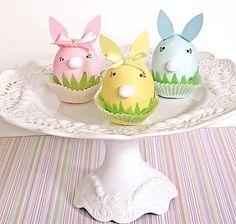 Lovely Pastel Easter Bunnies + Egg{s} Easter Ideas, Easter Crafts, Easter Bunny Eggs, Bunnies, Rabbit Accessories, Vintage Cake Plates, Pastel Colors, Pastels, Easter Table