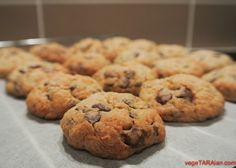 Oat coconut choc chip cookies (vegan) - vegeTARAian