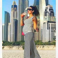 Another one from the fabulous Maya Williams from fashionlollipopblog wearing head-to-toe Seraphine out in Dubai! We Love How Good She Looks!  Fashion Mamas | Pregnant | Pregnant celeb | Maternity Style | Maternity Clothes | Pregnancy Style Inspiration | Mom to be | bump style | style the bump | dress the bump | Seraphine Pregnancy Style | Seraphine Maternity