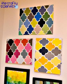 """Paint chip """"quatrefoil"""" art! This is going to the top of my to-do list! (which means it might get made within the next 5 years) ;)"""