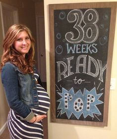 Ideas Baby Bump Pics Weekly Pregnancy Tracker For 2019 Pregnancy Tracker, Pregnancy Pics, Pregnancy Announcements, Weekly Pregnancy Chalkboard, Girls Party Invitations, Monthly Baby Photos, Funny Baby Quotes, Baby On The Way, Baby Time