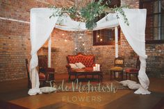 We ADORE this chill-out lounge area at Maddy and Tom's Walka Water Works wedding. A touch of greenery on the frame and you're sweet. www.jademcintoshflowers.com.au www.littleblackbowphotography.com.au