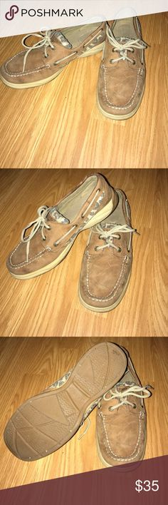 Sperry Top-sider, Koifish Style Size 8 Worn maybe once brown sperrys, cheetah print sides and tongue size 8 Sperry Top-Sider Shoes Flats & Loafers