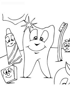 Brushing Teeth Coloring Pages 303   Free Printable Coloring Pages ...