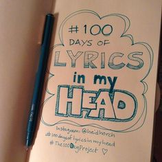 So I just heard about #The100DayProject!! Even though I'm late to start, I'm jumping in. I love to draw, I love to write, and I love to listen to music. Lyrics are always in my head when I'm working on my art so I thought it'd be fitting to give them their own stage, while amping up my own practice. I hope you don't get sick of it, I hope you like it, and I hope to inspire you to do something you love, too. If you see a lack of representation, shout out your favorite singer or band & I'll…