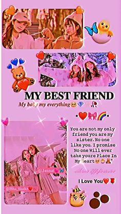 Happy Birthday Best Friend Quotes, Happy Birthday Posters, Best Friend Quotes Funny, Happy Birthday Video, Best Friend Status, Love You Best Friend, Love You Bestie, Best Friend Lyrics, Birthday Captions Instagram