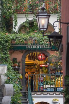 DELIKATESSEN ~ Positano, Italy. They have Coca-Cola, and other things! Love the way they spell delicatessen ~
