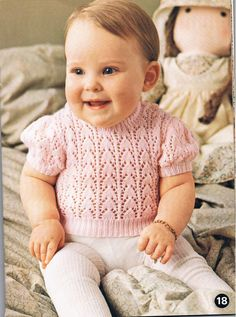 PDF Vintage Knitting Pattern 1970s Baby Short Sleeve Top by TheApplesauceShop, £1.50