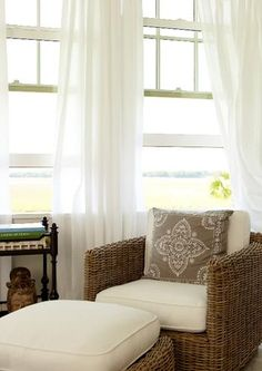 House Tours: Meeting Point - beautiful view - love the wicker chair