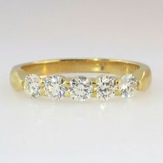Estate Hearts On Fire Five Stone 1.25ctw Diamond Wedding Band- Only $3375!