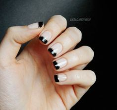 Like a candy shop: French manicure with a twist