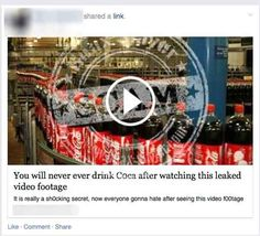 'Never Ever Drink Coca' Video Survey Scam