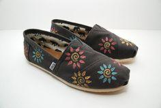 Swirl Flowers Custom TOMS Shoes by KellismCo on Etsy, $85.00