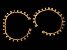 Pair of Gold Bracelets Decorated with Bosses, Ancient Georgia, grave 9, ca. 330-300 B.C.