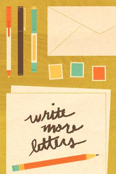 Lydia Nichols - to resolve project The lost art of WRITING Fun Mail, Going Postal, Type Illustration, Handwritten Letters, Pocket Letters, Lost Art, Happy Mail, Pen And Paper, Letter Writing