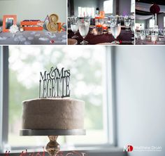 Wedding reception details for table setting and cake. NO TRAVEL FEES IN THE US!
