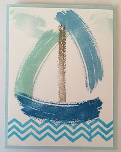 A sailboat using the Work of Art stamp set.