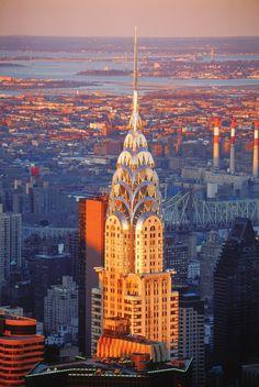 Chrysler Building, An Art Deco Style Skyscraper, New York City