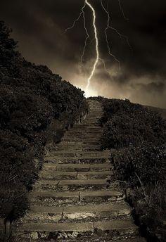 Arthur's Steps in Edinburgh, Scotland