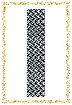 Схема бисероплетения браслета Гусиная лапка . В от HoneyPear, $3.00