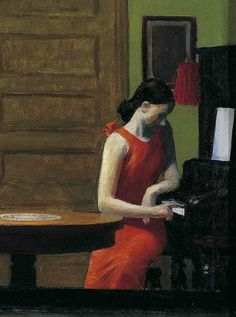"""Room in New York"" (detail), 1932, Edward Hopper.  ~Repinned Via Angelique Krosse"