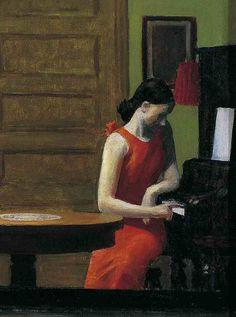 """""""Room in New York"""" (detail), 1932, Edward Hopper."""
