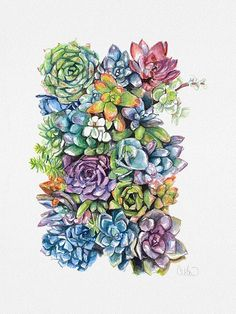 vertical succulent wall art… and I don't like succulents but this is art in color! I may try this - do deer eat succulents? Deco Floral, Arte Floral, Garden Plants, House Plants, Potted Plants, Garden Art, Big Garden, Herb Garden, Shade Garden