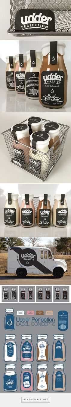 Branding, graphic design and packaging for Udder Perfection on Behance by Grayson Price Overland KS curated by Packaging Diva PD. Udder Perfection is a fresh and unique approach to boutique dairy products.