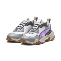 Image 2 of Thunder Electric Women's Sneakers in White-Pink Lavender-Cement