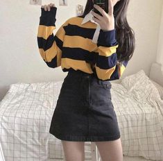 Korean Fashion Trends you can Steal – Designer Fashion Tips Teen Fashion Outfits, Retro Outfits, Cute Casual Outfits, Cute Fashion, Stylish Outfits, Vintage Outfits, Korean Outfits Cute, Korean Clothes, Boy Outfits