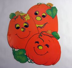 1980s Pumpkin Patch Halloween Decoration 100a by munnypenney, $5.00