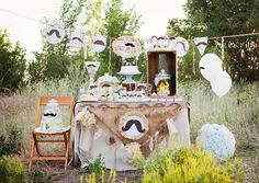 Little Man Mustache Themed Party Banner - Vintage Style. $57.00, via Etsy.