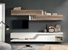 Modern Italian Wall Unit Exential T01 by Spar - $3,955.00