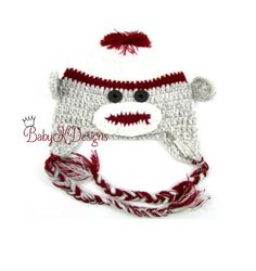 Baby Girl Or Boy Crochet Classic Dark Red Sock Beanie by #BabyKDesigns