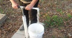 How To Make Your Own PVC Water Well Hand Pump ~ great to have as backup if you own a well and lose electricity.