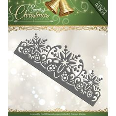 Precious Marieke Die -  Spirit of Christmas - Snowflake Border PM10068