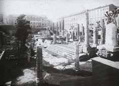 Roma - Largo di Torre Argentina  1900 Italy, Painting, Outdoor, Argentina, Rome, Towers, Photos, Travel, Places