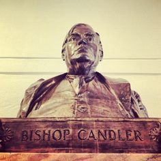 Bishops Hall may be gone, but Bishop Candler's likeness still greets those entering the ground floor of the Rita Anne Rollins building. #cst #bishopshall #emory