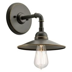 Westington Olde Bronze 10-Inch One-Light Outdoor Wall Sconce