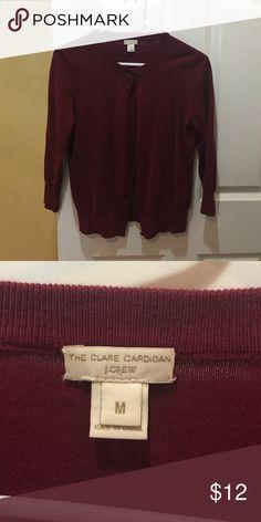 J. Crew cardigan 3/4 length burgundy cardigan from J. Crew. Size medium. J. Crew Sweaters Cardigans