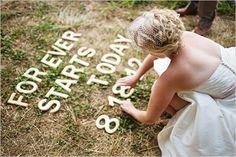 cute wedding ideas spray paint
